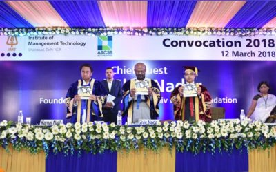 IMT Ghaziabad Hosts Shri Shiv Nadar as the Chief Guest at Convocation 2018