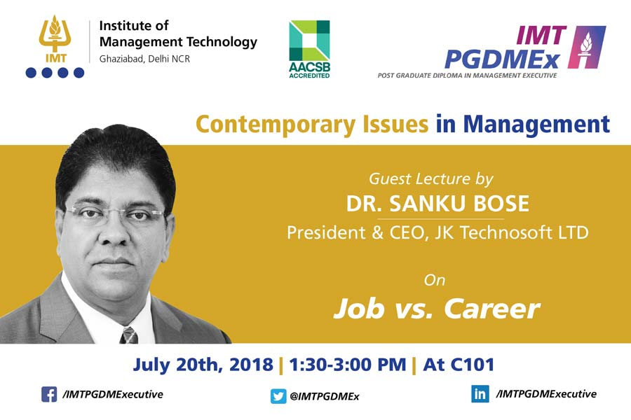 Contemporary Issues in Management – Dr. Sanku Bose, JK Technosoft Ltd