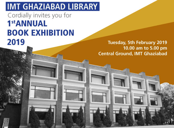 IMT Ghaziabad Library, 1st Annual Book Exhibition 2019